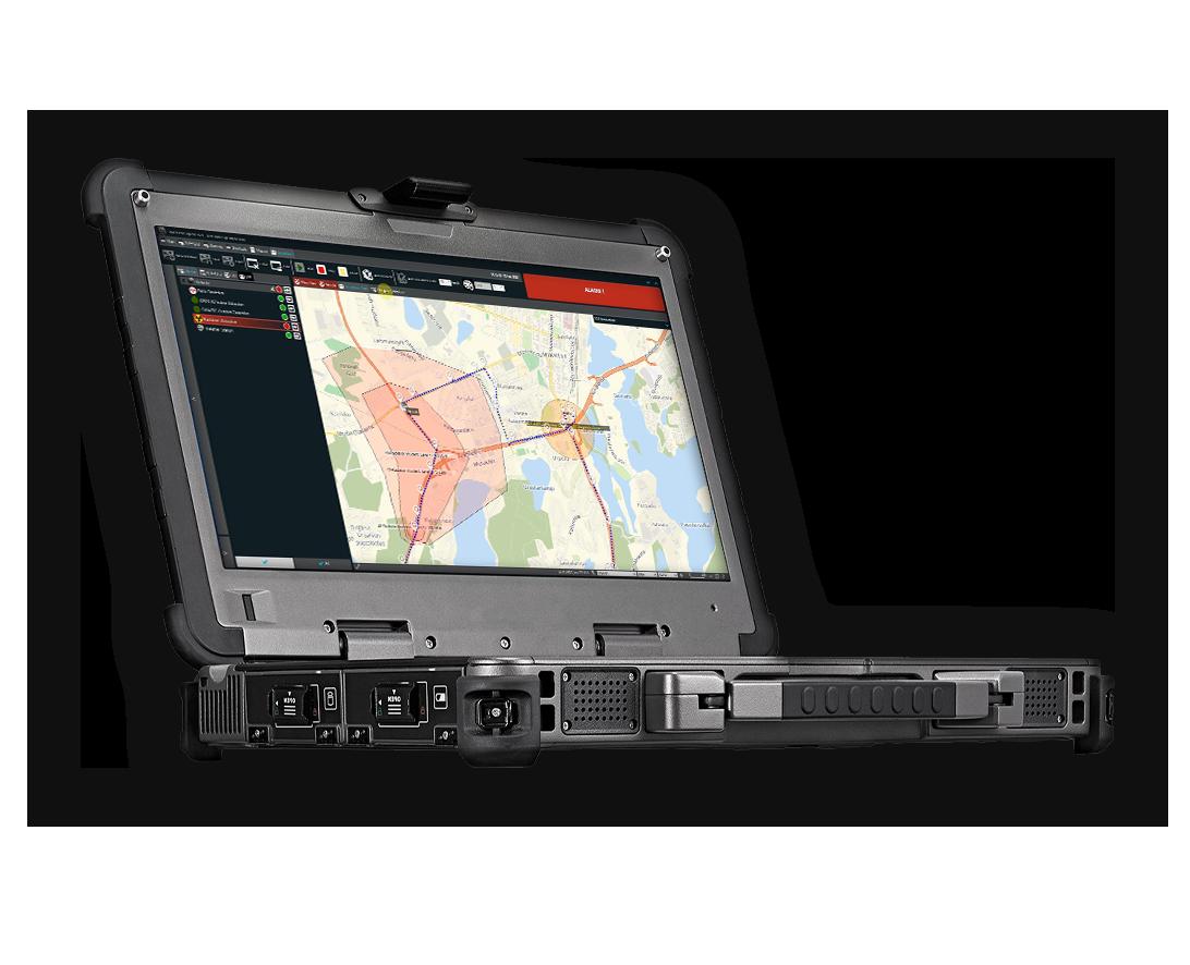EnviScreen Operix 2020 sftware on laptop