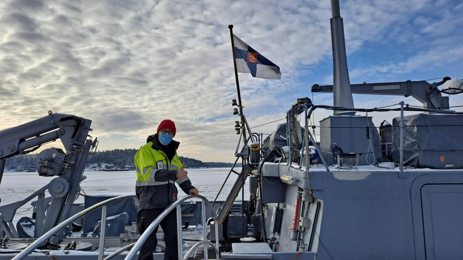 Training Manager and CBRN Specialist, Toni Leikas at Pansio naval base, during a major CBRN training for the Finnish Navy.