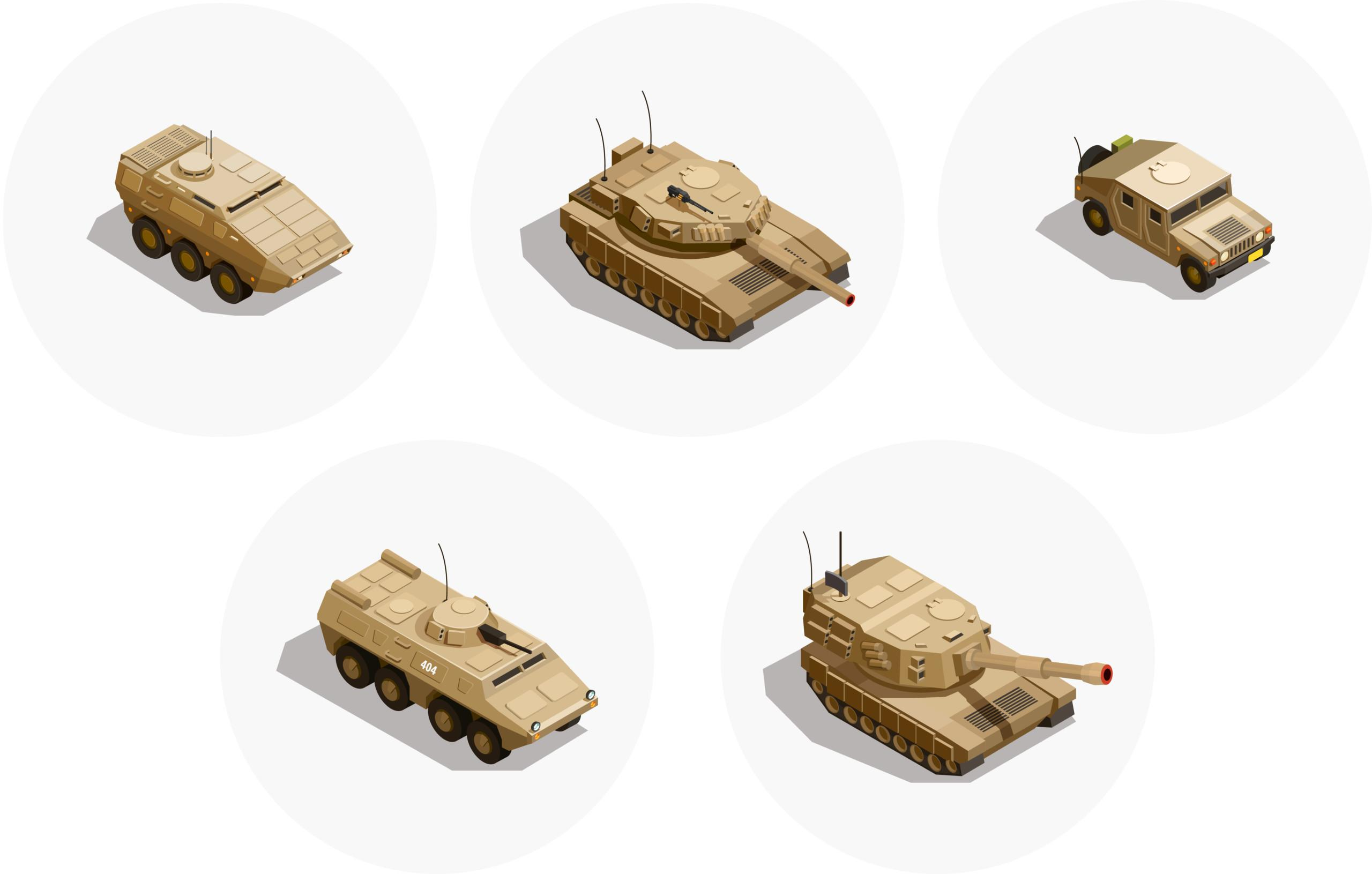 Environics provides scalable CR monitoring solutions for different armored vehicles, covering their various categories and sizes.