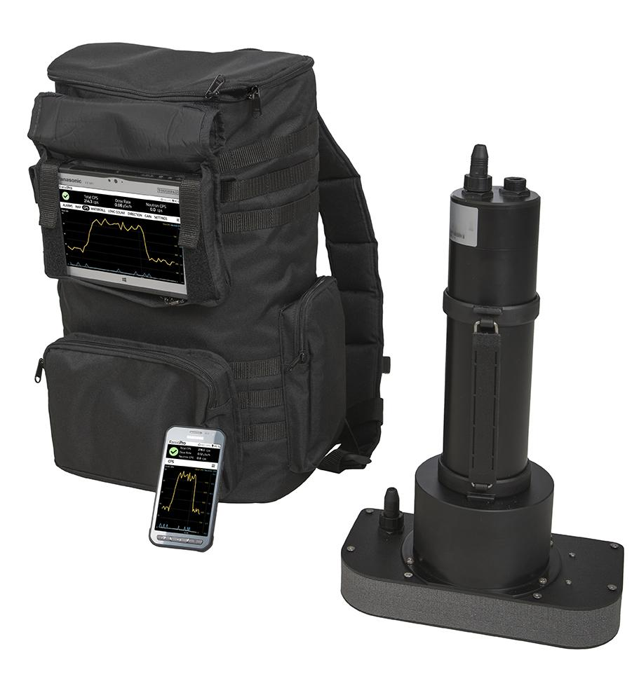 RanidPro200 Radionuclide Identifier Backpack with RanidSOLO and CPS UI