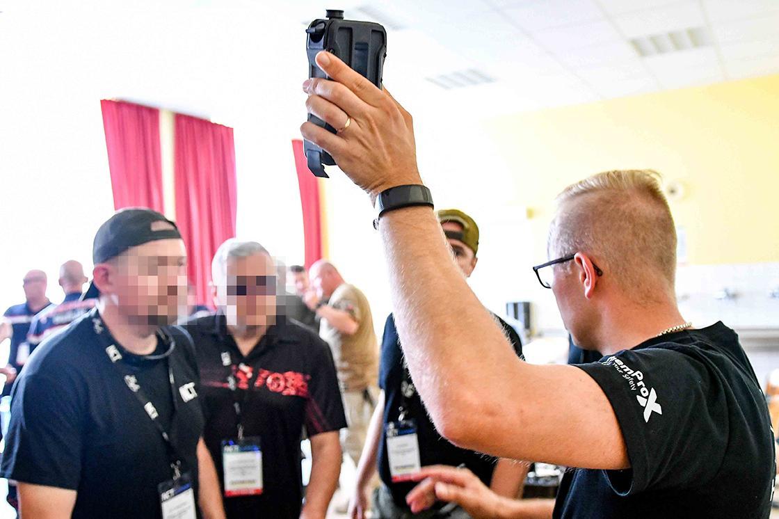 Toni Leikas showcasing ChemProX training functionalities at NCT Europe 2019